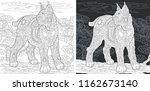 coloring page. coloring book.... | Shutterstock .eps vector #1162673140