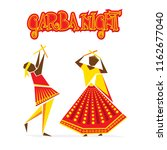 celebrate navratri festival... | Shutterstock .eps vector #1162677040