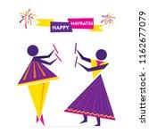 celebrate navratri festival... | Shutterstock .eps vector #1162677079