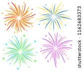 fireworks on white background ... | Shutterstock . vector #1162683373