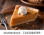 a slice of delicious home made... | Shutterstock . vector #1162686589