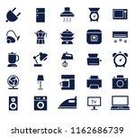 household glyph icon set  ...
