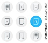illustration of 9 file icons...