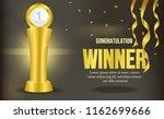 Golden Trophy With Swirl Golde...