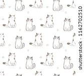 seamless pattern of cute... | Shutterstock .eps vector #1162702510