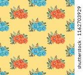 seamless vector ornamental... | Shutterstock .eps vector #1162703929