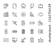collection of 25 phone outline... | Shutterstock .eps vector #1162704139