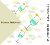 coctail summer holiday vector...   Shutterstock .eps vector #1162705189