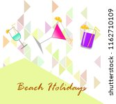 coctail summer holiday vector... | Shutterstock .eps vector #1162710109