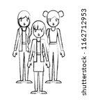 group of women characters | Shutterstock .eps vector #1162712953