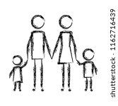 parents couple with kids figures | Shutterstock .eps vector #1162716439