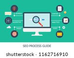 process of search engine... | Shutterstock .eps vector #1162716910
