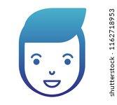 young man head avatar character | Shutterstock .eps vector #1162718953