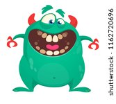 cool cartoon vector monster... | Shutterstock .eps vector #1162720696