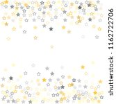 gold and silver stars confetti... | Shutterstock .eps vector #1162722706