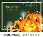 halloween background of... | Shutterstock .eps vector #1162724719