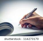 signing document | Shutterstock . vector #116273170