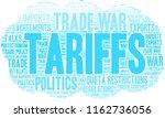 tariffs word cloud on a white...   Shutterstock .eps vector #1162736056