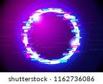 vector illustration glitched... | Shutterstock .eps vector #1162736086