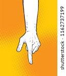 pointing finger illustration ... | Shutterstock .eps vector #1162737199