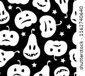 halloween seamless pattern with ... | Shutterstock .eps vector #1162740640