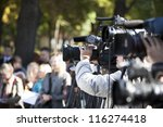 covering an event with a video... | Shutterstock . vector #116274418