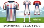 soccer jersey and football kit  ... | Shutterstock .eps vector #1162751473