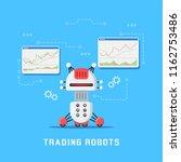 trading robots concept banner... | Shutterstock .eps vector #1162753486