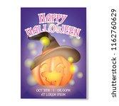 happy halloween background... | Shutterstock .eps vector #1162760629