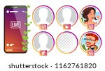 stories vector. girl  man... | Shutterstock .eps vector #1162761820