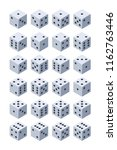 dice for play. various... | Shutterstock .eps vector #1162763446