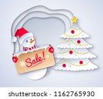 vector paper cut style... | Shutterstock .eps vector #1162765930