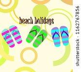 beach shoes beach holiday... | Shutterstock .eps vector #1162767856