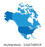 map of north america | Shutterstock .eps vector #1162768519