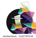 polygonal geometric design ... | Shutterstock .eps vector #1162769146
