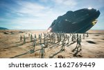 aliens are evacuated from a... | Shutterstock . vector #1162769449