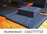 meditation zafu cushion and mat ... | Shutterstock . vector #1162777723