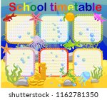 school timetable with marine... | Shutterstock .eps vector #1162781350