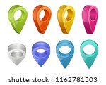 colored map pointers. various... | Shutterstock .eps vector #1162781503