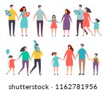 male and female couples.... | Shutterstock .eps vector #1162781956
