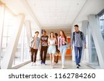 a group of young students from... | Shutterstock . vector #1162784260