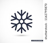 snow vector icon | Shutterstock .eps vector #1162795870