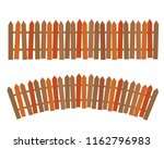 set of rural wooden fence.... | Shutterstock . vector #1162796983