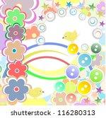 bird and flower background.... | Shutterstock . vector #116280313