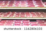 raw beef meat selling at the... | Shutterstock . vector #1162806103