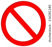 not allowed sign on white... | Shutterstock .eps vector #116281180