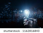 concept of idea and innovation. ... | Shutterstock . vector #1162816843