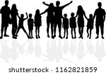 family of silhouettes. | Shutterstock .eps vector #1162821859
