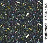 seamless pattern with simple... | Shutterstock .eps vector #1162824166