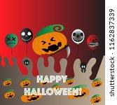 happy halloween   vector funky | Shutterstock .eps vector #1162837339
